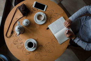 A freelance writers table